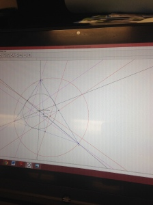 This is an example of a student exploring Euler's Line